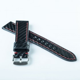 Flat Calf Leather Carbon fiber engraved