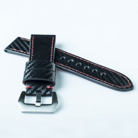 Flat Calf Leather Carbon fiber engraved Wide