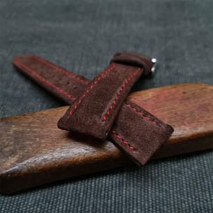 Flat Calf Leather Green Saffiano. Wide