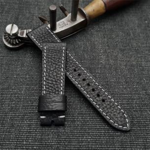 """Nato cuero """"patina vintage"""". Estrecha"""