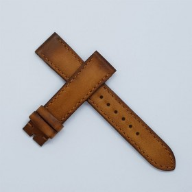 "Flat leather ""patina vintage"". Estrecha"