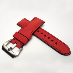 Padded Calf Leather Red Nobuk Wide