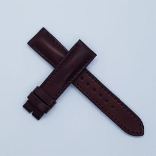 "Plana marrón oscuro ""patina vintage"". Ancha"