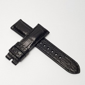 Padded Black Alligator. Wide