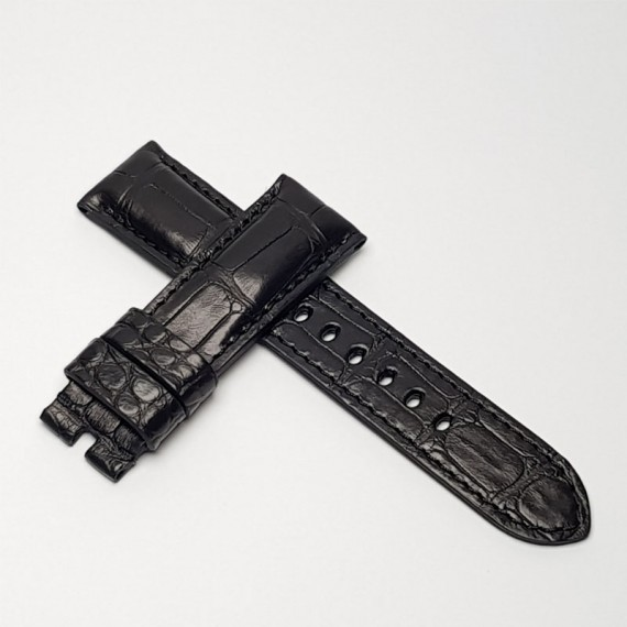 Padded Black Alligator