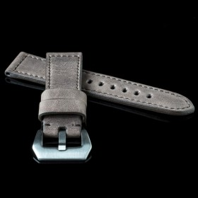 Flat Calf Leather Pull Brown Wide