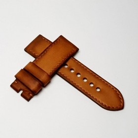 "Flat leather ""patina vintage"". Wide"