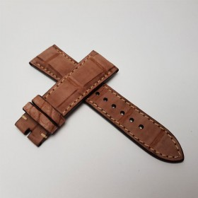 Padded Nobuk Cognac Alligator.